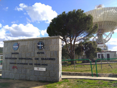 Entrada. MDSCC (Madrid Deep Space Communications Complex): Complejo de Comunicaciones con el Espacio Profundo de Madrid